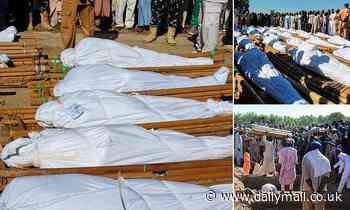 Boko Haram militants behead and slit the throats of 43 Nigerian rice farmers and fishermen