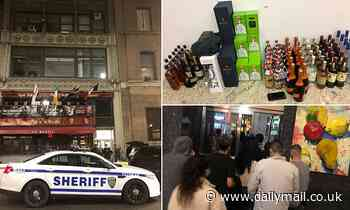 NYC officials bust Manhattan 'bottle club' with 400 partygoers and four are arrested