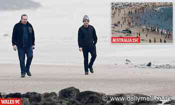I'm a (chilly) Celebrity... get me out of here! Ant McPartlin wraps up for stroll