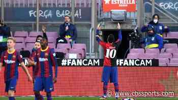Barcelona vs. Osasuna score: Messi scores and honors Diego Maradona by showing of Newell's jersey