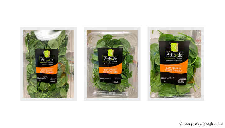 Packaged baby spinach recalled because of threat of Salmonella