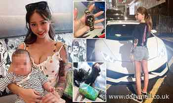 Influencer and her baby are tied up in $400k raid after she posed with designer clothes