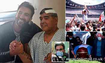 Maradona's doctor is 'charged with negligence' as police probing his death raid the physician's home