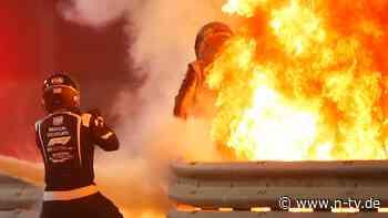 Halo rettet Grosjean das Leben: Formel-1-Pilot entkommt der Flammenhölle