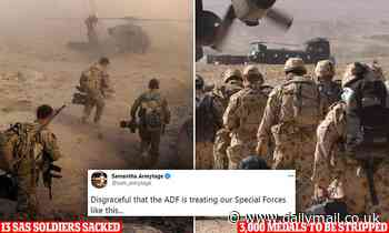 Top brass are next in the firing line after 13 Australian soldiers sacked over 'war crimes' report