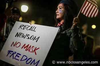 Dozens Protest Governor's Curfew Order at Santa Monica Pier - NBC Southern California