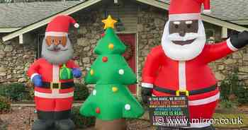 Dad who put up Black Santa decoration receives sickening racist note