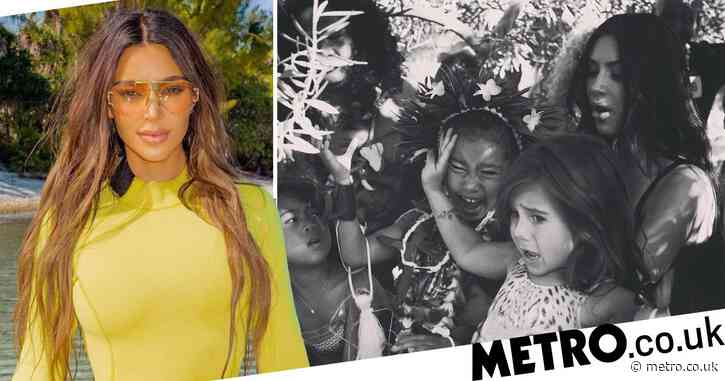 Chaotic Kim Kardashian family snap perfectly summarises 2020