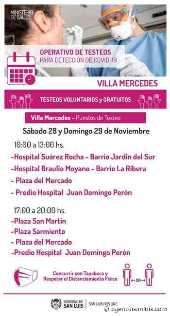 | Realizan un operativo de testeos en Villa Mercedes - Agencia de Noticias San Luis