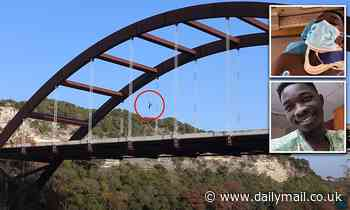 YouTuber jumps off of Texas bridge and fractures his skull after landing in the Colorado River