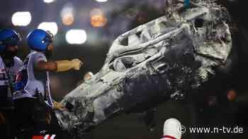 Team informiert zu Verletzungen: Grosjean schoss mit Tempo 250 in die Leitplanke