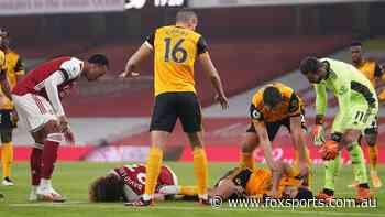 Wolves star stretchered off after sickening head clash exposes 'shocking' PL issue