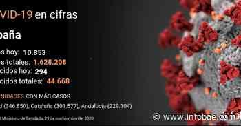 El coronavirus deja en España 10.853 contagios nuevos y 294 fallecidos en el último día - infobae