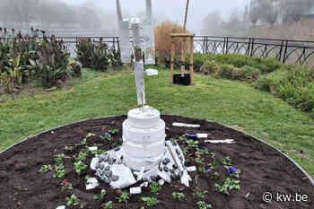 Vandalen vernielen nieuw kunstwerk voor coronaslachtoffers in Roeselare