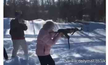 NRA post video of elderly lady firing powerful rifle to the delight of gun enthusiasts on Twitter