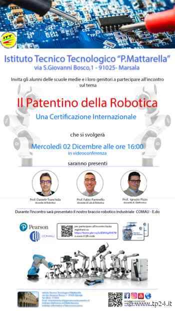 """All'ITT Mattarella di Marsala """"Il Patentino della Robotica"""" - Tp24"""