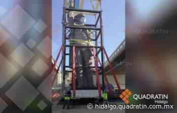 Tardan 6 horas para mover monumento a Miguel Hidalgo en Pachuca - Quadratín Hidalgo
