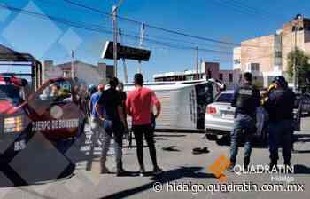 Choque entre Urvan y auto particular deja 3 lesionados en Pachuca - Quadratín Hidalgo