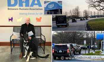 President-elect Joe Biden arrives at orthopedist after slipping while playing with his dog