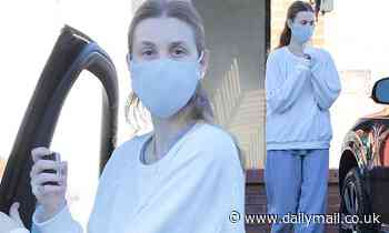 Whitney Port is Sunday casual in sweatshirt and baggy sweats as she runs errands in LA