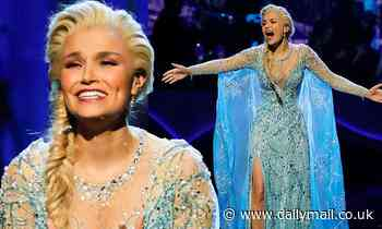 Samantha Barks transforms into Frozen's Elsa for the Royal Variety Performance