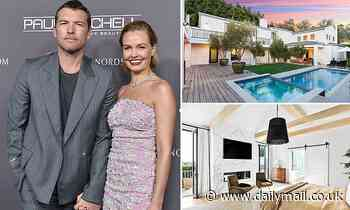 Lara and Sam Worthington's glamorous Hollywood mansion gets relisted for $12.57 million