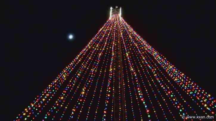Virtual ceremony lights Zilker Holiday Tree near downtown Austin