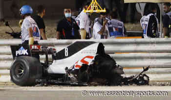 Twitter Reacts to Romain Grosjean's Chilling Crash at the Start of the Bahrain GP - EssentiallySports