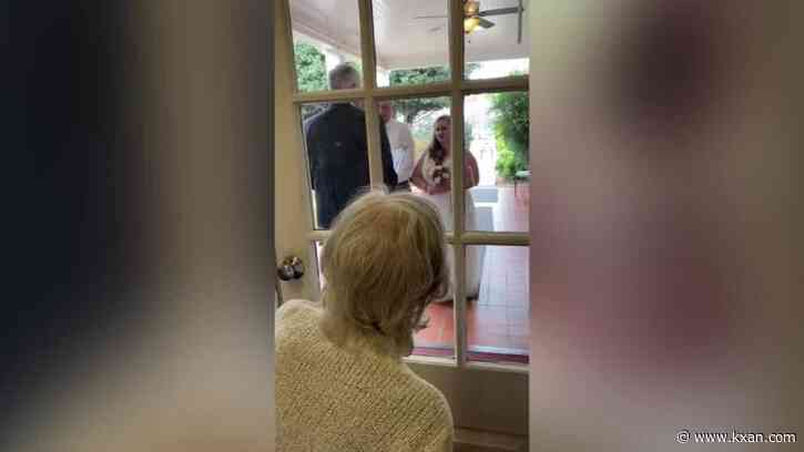 Couple holds wedding ceremony outside Richmond living facility for grandmother to see