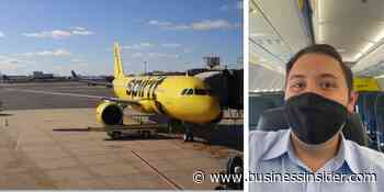 Flying Spirit Airlines 'shuttle' Newark to Boston; review, pandemic - Business Insider - Business Insider