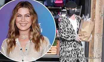 Grey's Anatomy's star Ellen Pompeo dons animal print coat as she shops at Malibu market