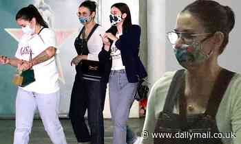 Demi Moore and daughter Scout Willis make a pit-stop at their LA storage space with an assistant