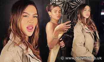 Amelia Hamlin, 19, pokes her tongue out as she poses with galpal amid romance with Scott Disick, 37