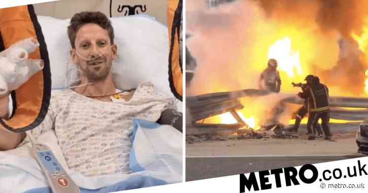 'Thank you very much for all the messages' – Romain Grosjean speaks out for first time after horror crash at Bahrain Grand Prix