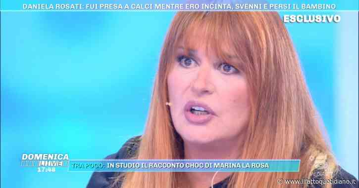 """Domenica Live, Daniela Rosati:  """"Io presa a calci mentre ero incinta, così ho perso il mio bambino"""""""