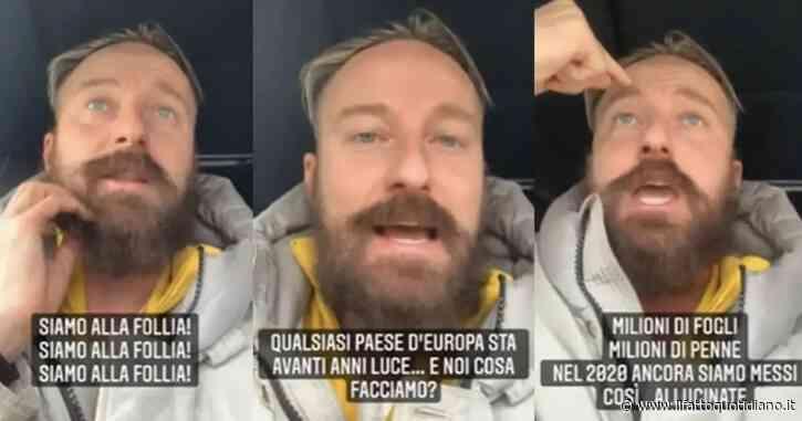 """Francesco Facchinetti su tutte le furie: """"La Spagna ci cag… in testa. Ma chi ci governa si sveglia o no?"""""""