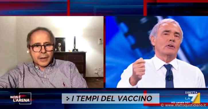 """Crisanti a La7: """"Vaccino anti-Covid? Ho chiesto solo trasparenza sui dati, per ora solo affermazioni di carattere commerciale"""""""