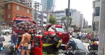 Motociclista tem perna amputada em acidente com carro na Aparecida, em Santos - A Tribuna
