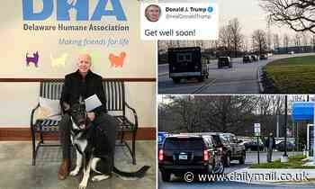 Donald Trump tells Joe Biden to 'get well soon' after foot fracture