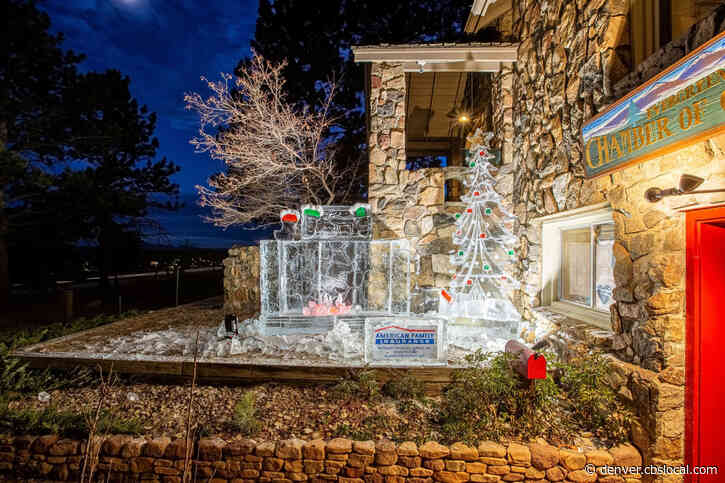 Ice Sculptures Pop Up In Evergreen For Holiday Cheer
