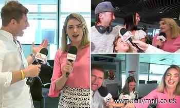 Sunrise's Sam Mac gets VERY friendly with Today show reporter as they crash each other's broadcasts