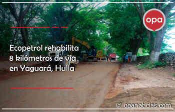 Ecopetrol rehabilita 8 kilómetros de vía en Yaguará, Huila - Opanoticias