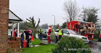 Santa float spreading Christmas cheer pelted with stones in 'disgusting' attack