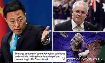 China fires ANOTHER shot at 'roaring and raging' Scott Morrison over fake photo of Aussie soldier