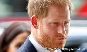 Prince Harry in mourning after sad sudden death
