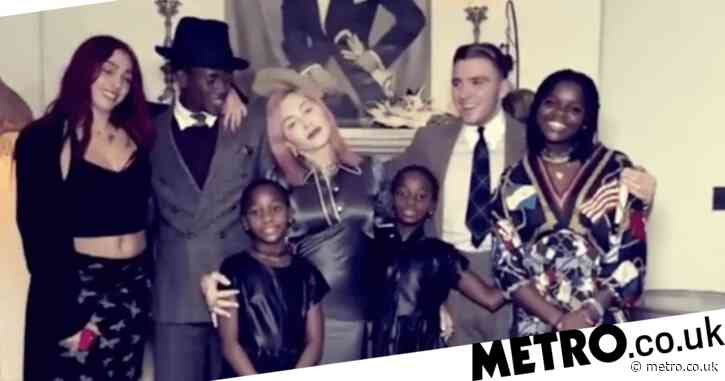Madonna gathers all six children for rare photos with boyfriend Ahlamalik Williams as they celebrate Thanksgiving