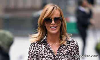 Amanda Holden's silky satin leopard print dress has totally stunned us