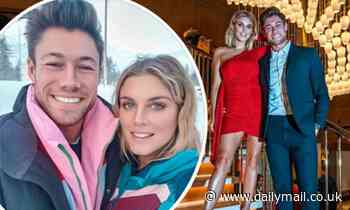 Heavily pregnant Ashley James celebrates a year of dating her boyfriend Tommy