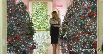 Melania Trump mocked for 'tacky' White House Christmas decorations