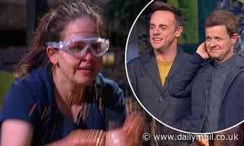 I'm A Celeb SPOILER:Giovanna Fletcher hurls FISH GUTS at Vernon Kay's head in latest revolting task